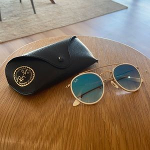Ray-Ban Sunglasses - Blue Mirrored Certified